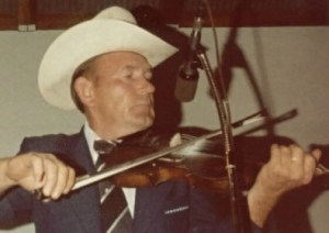 Kenny Baker with fiddle