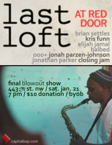 DC Jazz Loft Flyer